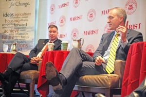 Congressmen Chris Gibson, left, and Sean Maloney at Across the Aisle 2016. (Times Herald-Record)