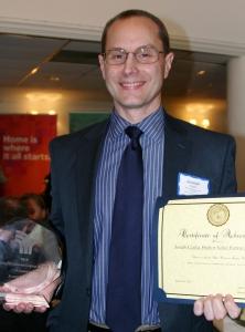 Joe Czajka received the Alice Dickinson Legacy Award for his work in housing